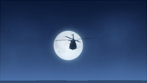 Moonlight Helicopter Flight (NTSCW) Footage