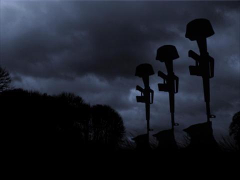 Fallen Marines Memorial Stock Video Footage