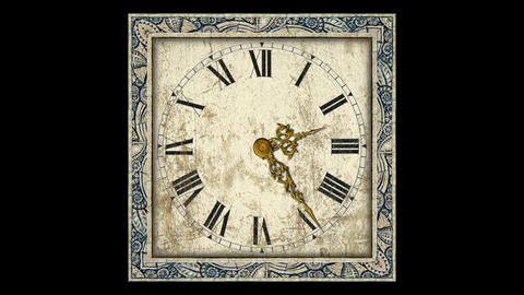Antique Clock Stock Video Footage