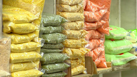 Indian Groceries Stock Video Footage