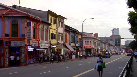 Little India Timelapse Stock Video Footage