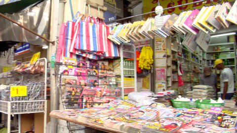 Indian Magazine Shop Pan Shot Footage