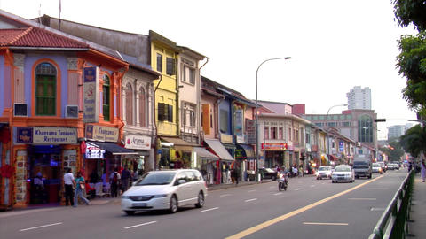 Little India Road Stock Video Footage