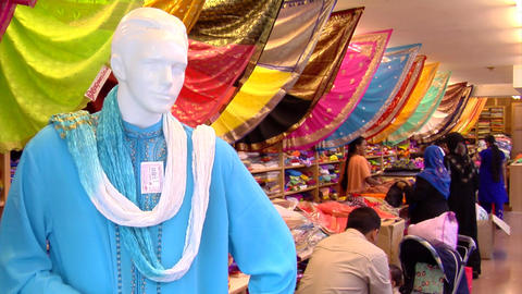 Indian Sarees (Saris) Shop Stock Video Footage