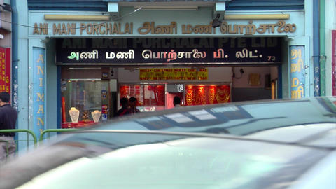 Little India Shops Close Up Footage