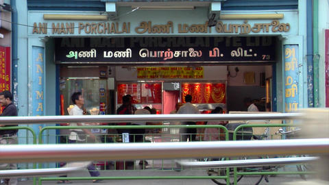 Little India Shops Close Up Stock Video Footage