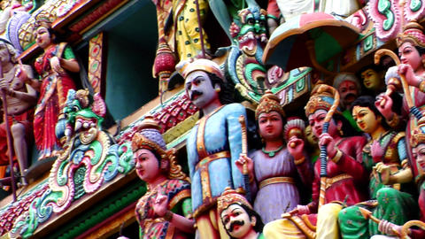 Sri Mariamman Temple CU Footage