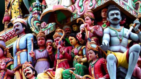 Sri Mariamman Temple CU Stock Video Footage