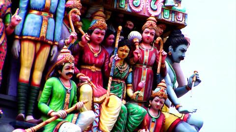 Sri Mariamman Temple Gods Pan Stock Video Footage