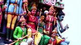 Sri Mariamman Temple Gods Pan stock footage