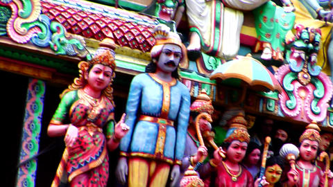Sri Mariamman Temple Gods Pan Footage
