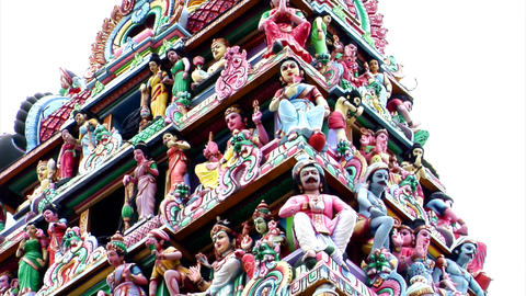 Sri Mariamman Temple Gods Stock Video Footage