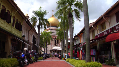 Singapore Sultan Mosque Where Muslims Pray Footage