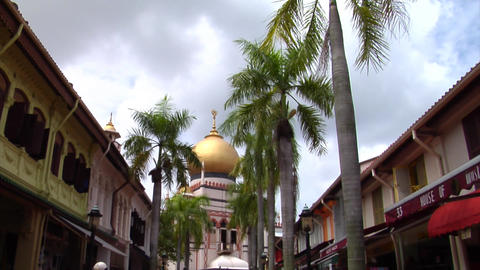 Singapore Sultan Mosque Where Muslims Pray Stock Video Footage