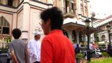 Singapore Muslims At Sultan Mosque stock footage