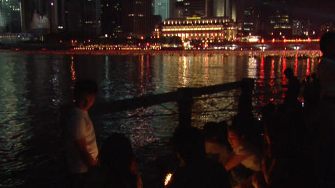 Singaporeans New Year Countdown Stock Video Footage