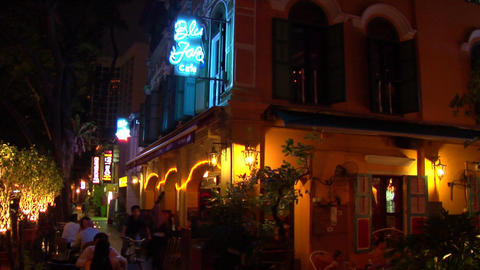 Singapore Jazz Bar Stock Video Footage