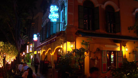 Singapore Jazz Bar Stock Video Footage