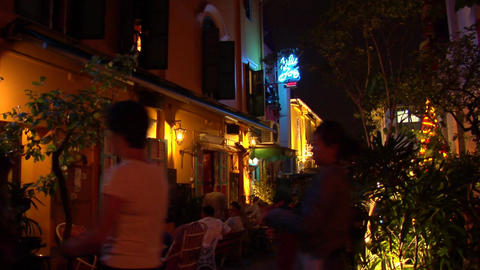 Singapore Restaurant At Kampong Glam Stock Video Footage