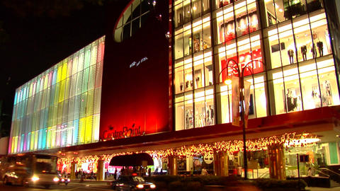 Singapore Orchard Road Traffic Footage