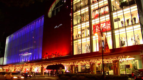 Singapore Orchard Road Traffic Stock Video Footage