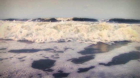 (1008) Beach Waves Surf Stock Video Footage
