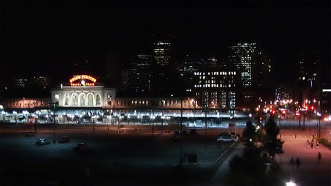 (1026) Travel By Train City Nightlife Time Lapse Stock Video Footage