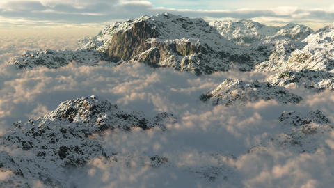 (1054) Snow Mountain Wilderness Storm Stock Video Footage