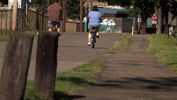 Bicyclists 538 Stock Video Footage