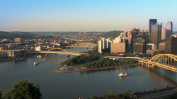 Pittsburgh Skyline 518 Stock Video Footage