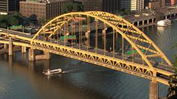 Fort Pitt Bridge 522 Stock Video Footage