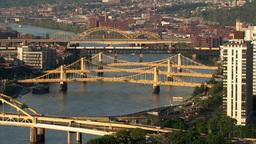 Three Sisters Bridges 524 Stock Video Footage