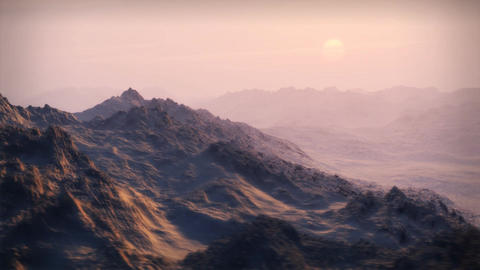 1065 Snow Mountain Wilderness Glacier Sunset Stock Video Footage