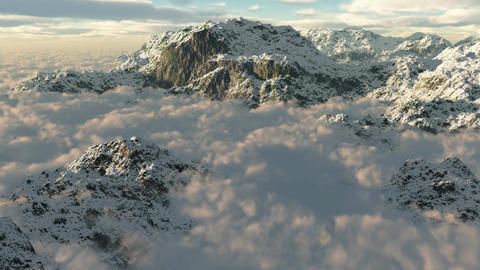 1067 Wilderness Snow Mountains Glaciers Stock Video Footage