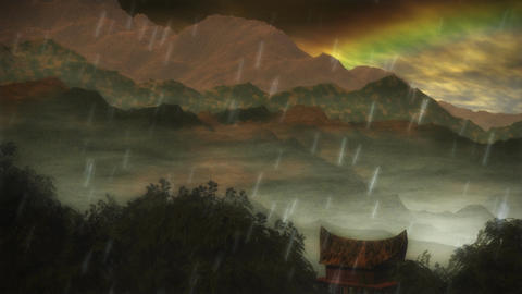1075 Jungle Rain Forest Rainbow Storm Animation