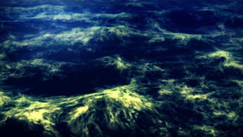 1077 Deep Ocean Whitecap Waves Surge Stock Video Footage