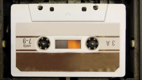 cassette_rwd00 Stock Video Footage