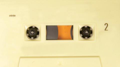 cassette_rwd04 Stock Video Footage