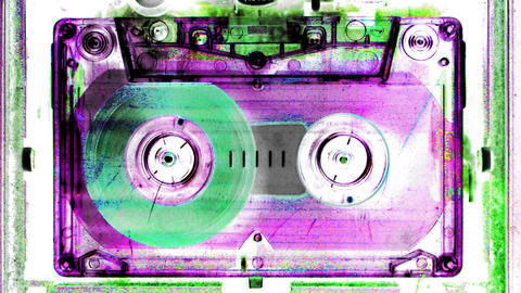 cassette_rwd09 Stock Video Footage