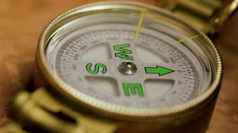 Tracking Compass Stock Video Footage