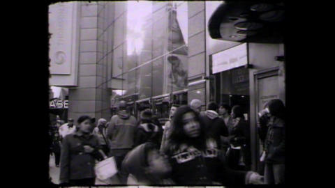 NYC Times square people Stock Video Footage