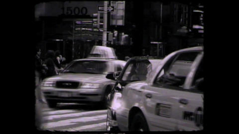 NYC Times square cars and people Footage