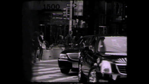 NYC Times square cars and people Stock Video Footage