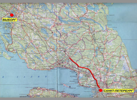The Route On The Map stock footage