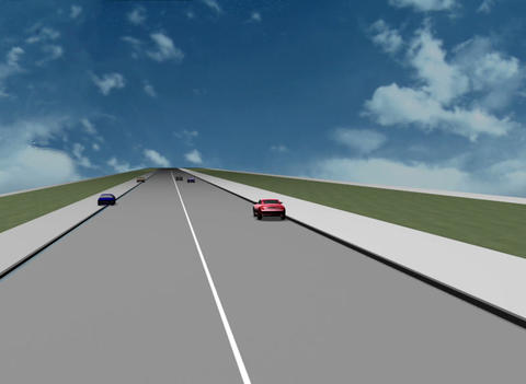 Road situation 3D Stock Video Footage