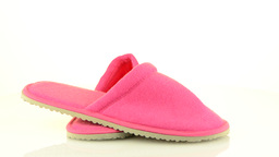 A pair of pink slippers Stock Video Footage