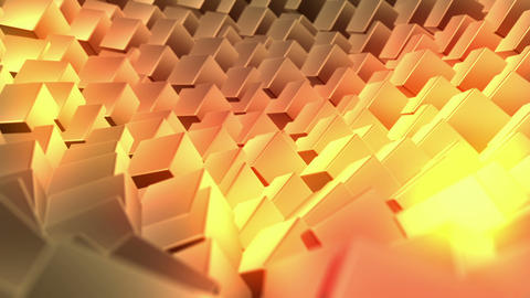Gold background, loop seamless, animation Stock Video Footage