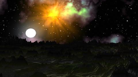 Moonrise on a gloomy planet Animation