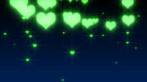 HD Hearts Falling Video Background Animation
