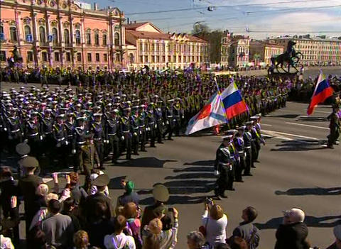 Parade on victory Day Footage